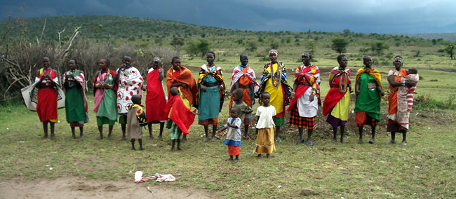 The extremely welcoming Mara village occupants