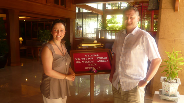 Angela & Stuart in Phuket