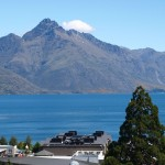 view of Queenstown from the blacony