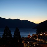 view of Queenstown at night