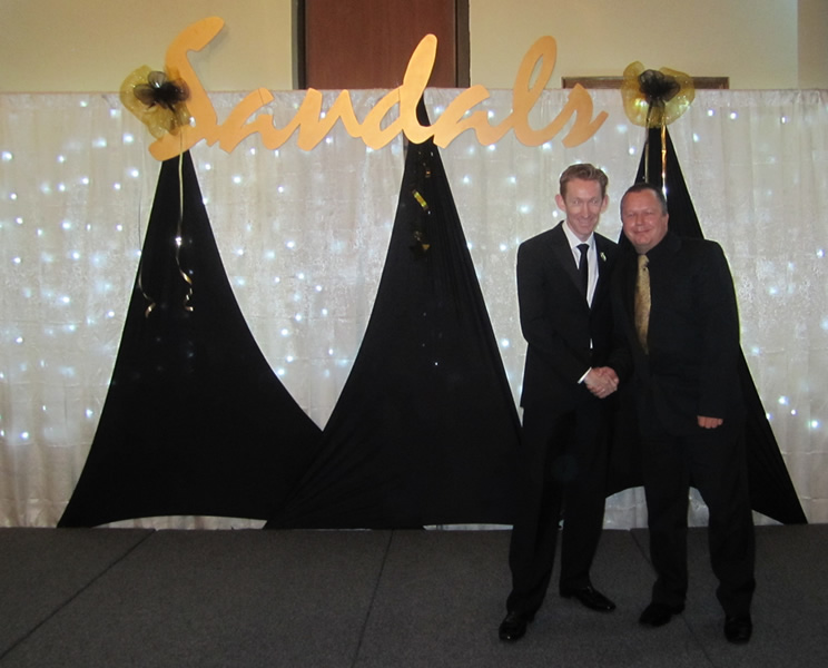 Kevin at the Sandals Star Awards 2010