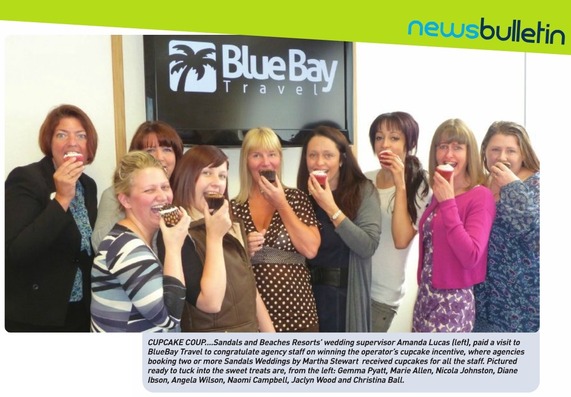 The Blue Bay girls tucking into some yummy cupcakes