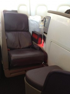Upper Class Seating (& bed!)