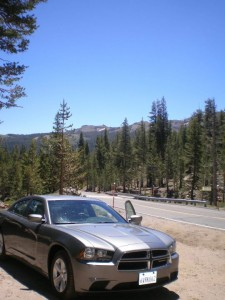 Our car and some of the beautiful Yosemite National Park