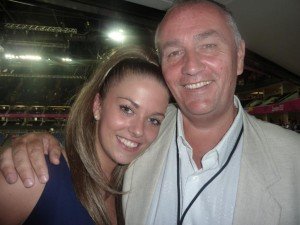 Steph and the infamous Graham from Harlequin Hotels & Resorts