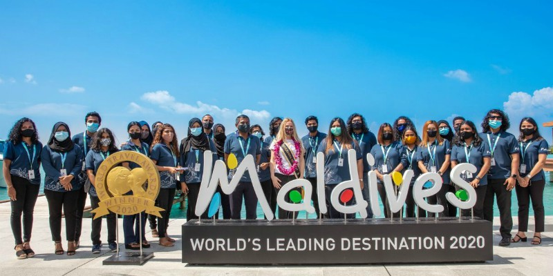 The Maldives welcome their 500,000th visitor of 2020