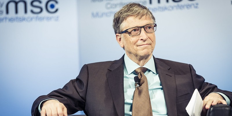 bill gates appearing at a charity function