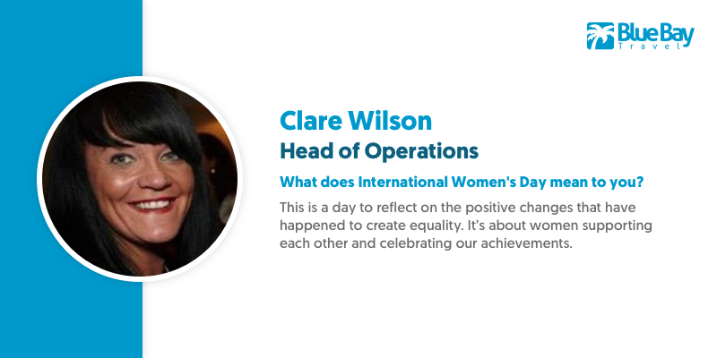Last, but by no means least is Clare Wilson. Clare ensures Blue Bay keeps ticking over everyday with the experience of a guru and touch of a master crafts-woman