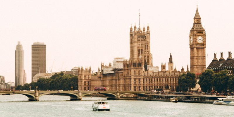 Westminster view from the Thames River
